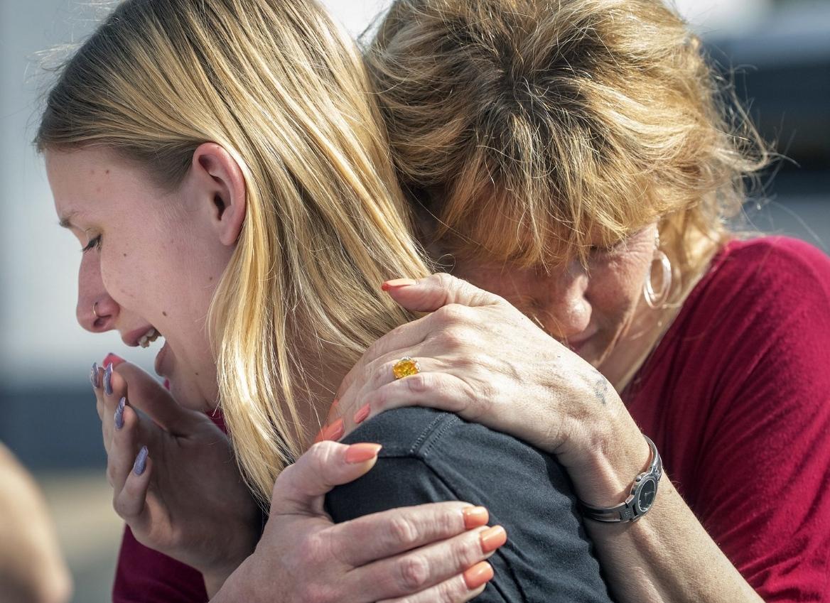 Na střední škole v Texasu se střílelo, na místě zůstalo několik mrtvých (18. května 2018). Autor: AP